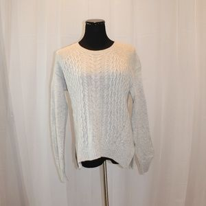 Halogen Cable Knit Wool & Cashmere Sweater